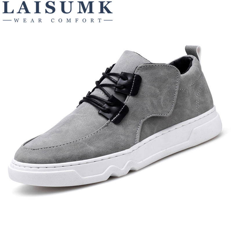 LAISUMK 2019 Fashion Men PU Leather Sneakers Popular Trend Mens Shoes Casual Shoes for Male zapatos hombre in Men 39 s Casual Shoes from Shoes