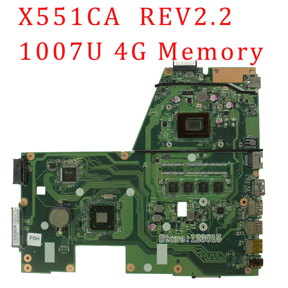 F551CA R512CA X551CA X551CAP Laptop motherboard X551CA REV2.2 1007U mainboard 4G Memory Graphic HD tested well битоков арт блок z 551