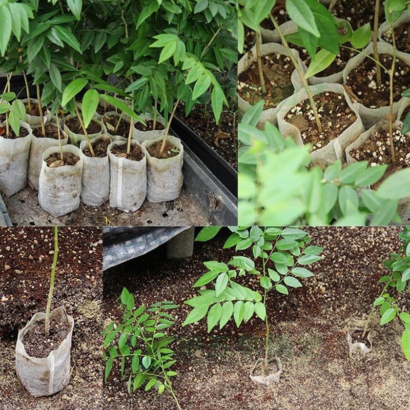 New 100 pcs Nursery Pots Seedling Raising Bags non woven fabrics Garden Supplies Garden Supplies Environmental in Flower Pots Planters from Home Garden