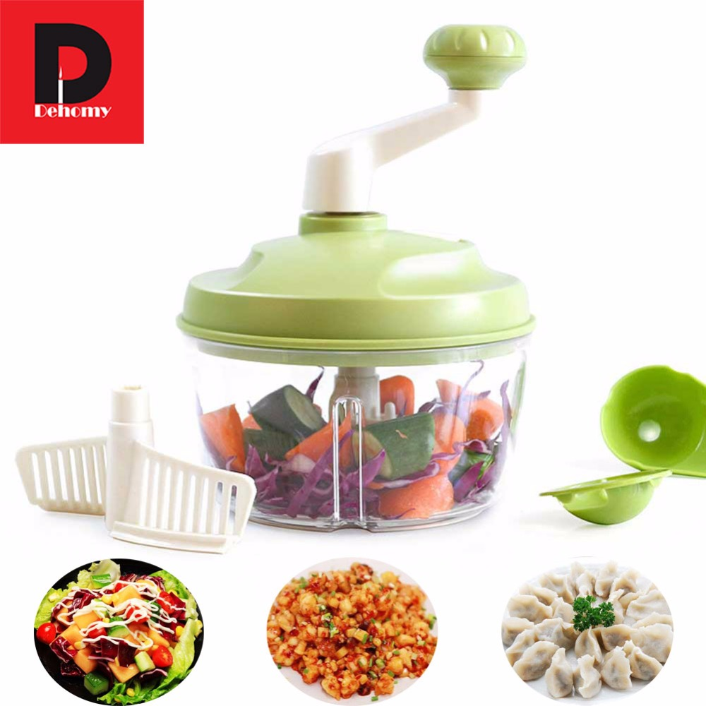 Manual Meat Grinders DIY Multifunctional Mincer Food Chopper Shredder Salad Maker Vegetable Tools Egg Mixer Kitchen Accessories