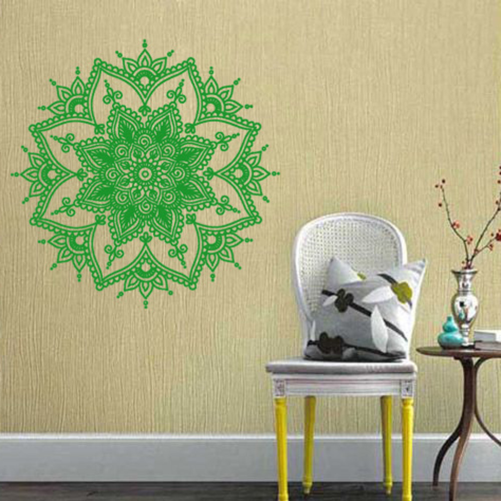 wall stickers home decor Mandala Flower Indian children Bedroom ...