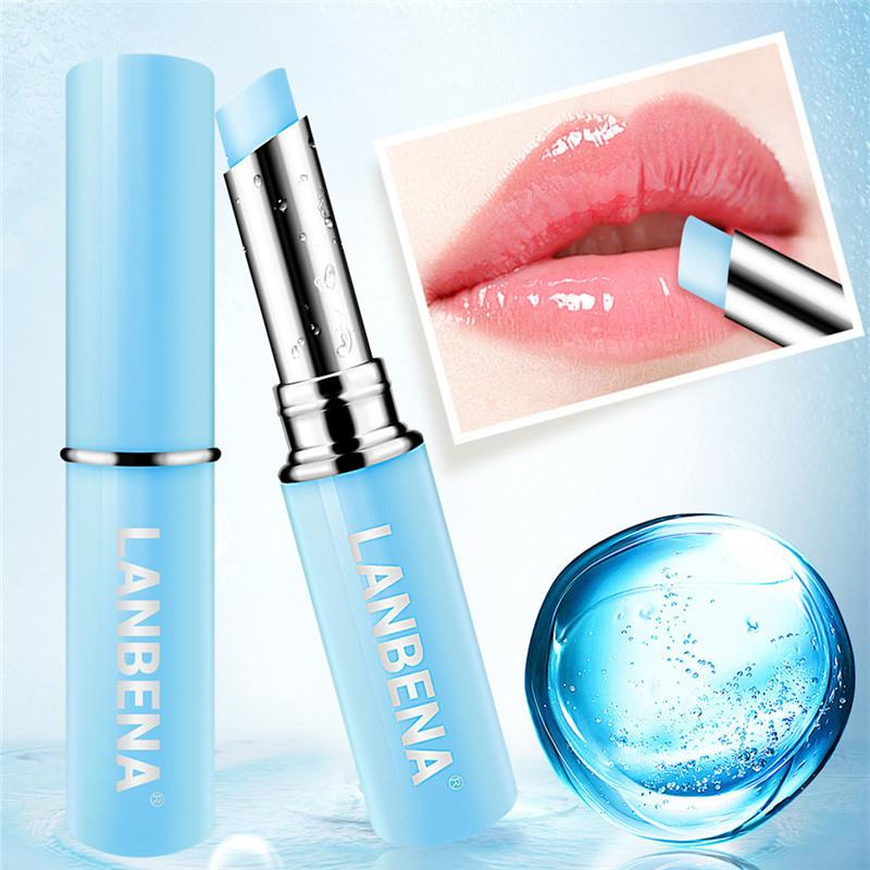 LANBENA Lip Balm Chameleon Rose Hyaluronic Acid Lips Plumper Moisturizing Nourishing Lip Care Lip Lines Natural Extract Lipstick