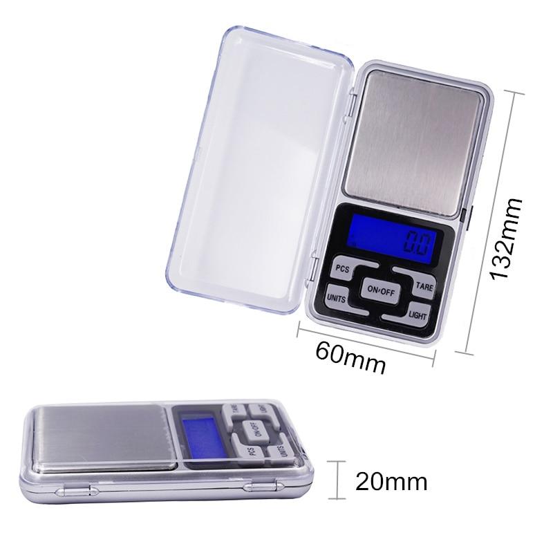 1 kg 0.1g Cyfrowa elektroniczna Przenośna biżuteria Jedzenie - Przyrządy pomiarowe - Zdjęcie 3