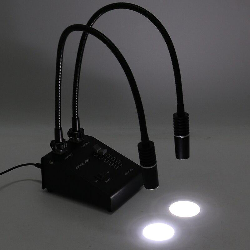 Tools : 3 in 1 6W 6500K Industry Microscope LED Gooseneck Light Illuminator Lamp Spot Light Lamp Fill Light Lamp With 60 LED Ring Light