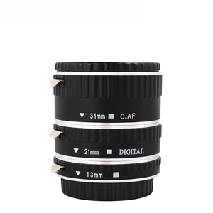 Image 3 - Kaliou 13mm 21mm 31mm Auto Focus Macro Extension Tube Set for Canon EF EF S Lens Canon 700d t5i 7d 5d Black Red Silver color
