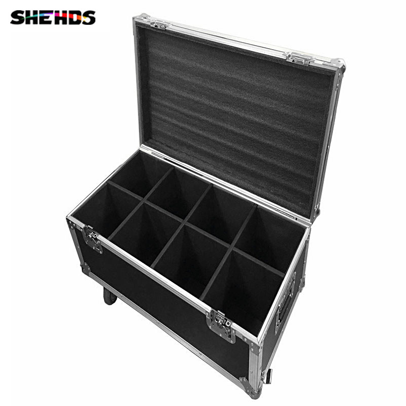 Flight Case with 6/8 pieces Quick Shipment new led spot moving head light 30W 9/11 channels dmx stage light in stock new 1 30w led spot light 6 8w wash light led display