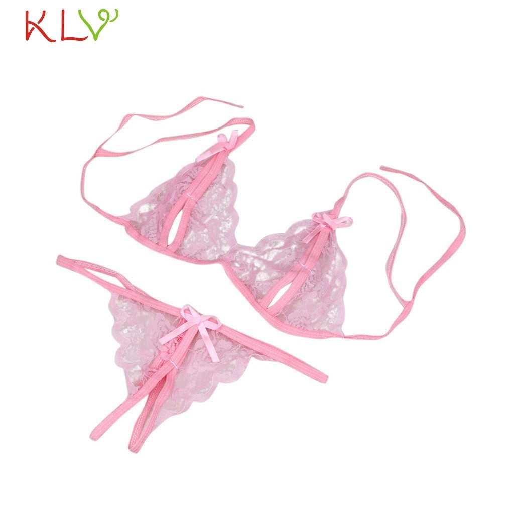 Ladies Underwear Sets Bra Women Lace Sexy G-string Lingerie Black Exotic Babydoll Bra Panty Conjunto Lenceria Mujer 18Jan15