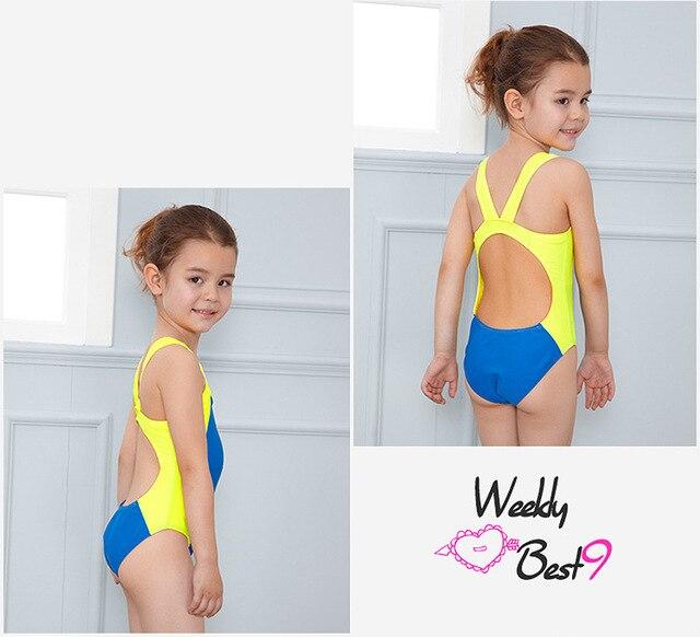 95e521a63e Kids Swimmer girls bathing suit infantil swimwear for girls bathers children  one piece swimwear lovely girl sport swimsuit 3-10T