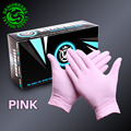 50Pairs Disposable Nitrile Tattoo Gloves Sterilized Latex Rubber  New Tattoo Supply Pink Colour(L)
