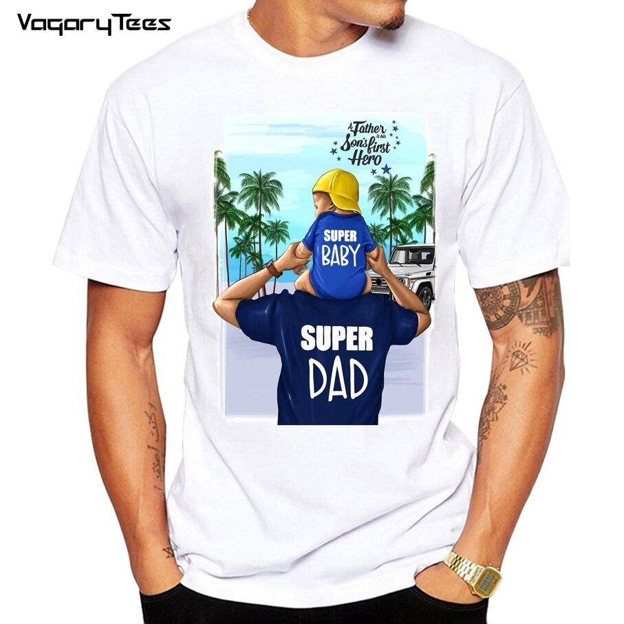 Super Dad   T     shirt   men Father's Love Print White   T  -  shirt   Harajuku TShirt Vogue Tops tee   shirt   Femme Vogue Summer family TShirt
