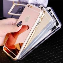 Новинка, розовое золото, роскошный зеркальный мягкий прозрачный чехол из ТПУ для iphone 6, 6 S, 7, чехол для iphone 6, 7 Plus, чехол s, 5se, 5S, 5, 4, 4S, чехол для телефона, чехол s