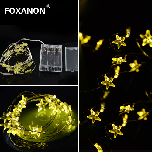 2m 20 Led Strip Copper Wire Yellow Christmas Lights Waterproof Decoration Holiday Lighting With Battery Box Led String Light In Led String From Lights