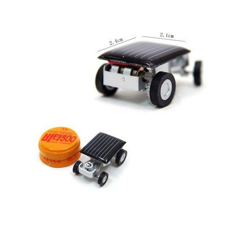 Kids Racer Toys Educational Gadget Children Smallest Mini Car Solar Power Boys
