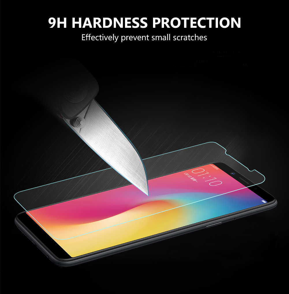 YCDC Tempered Glass Screen Protector Premium 0.3mm 9H with Safe Packing Skin Guard for OPPO A59/A73/A77 R9 R9S R11 R11S Plus R9S