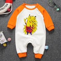 Anime Baby Rompers Spring Newborn Baby Clothes Cotton Baby Boy Clothes Cartoon Dragon Ball Baby Girl