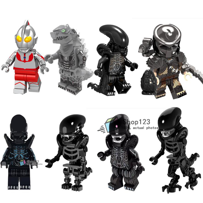 Alien vs Predator Egg Movie Building blocks Skeleton  Mazinger Z Friends Bricks the Walking Dead Children Toys Juguetes(China)