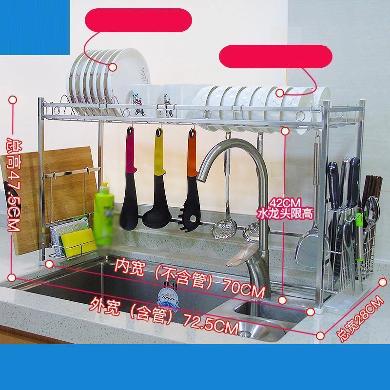 Vaisselle Escurridor De Platos Cosina Accessories Etagere Sink Stainless Steel Cozinha Rack Mutfak Cocina Kitchen Organizer