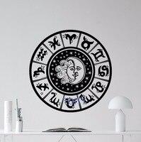 Tierkreiszeichen Wandtattoo Sun Moon Himmel Sterne Vinyl Aufkleber Kunst-dekor-wand H57cm x W57cm