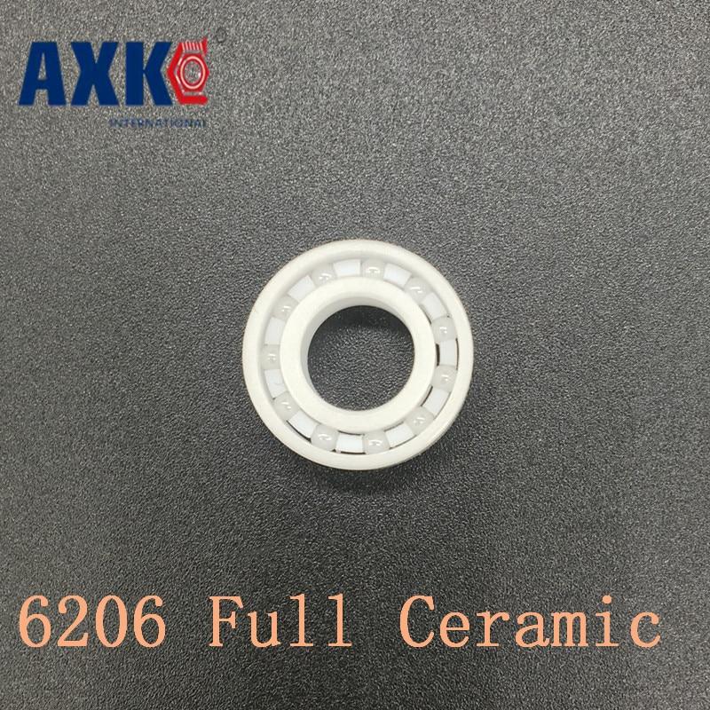 Axk 6206 Full Ceramic Bearing ( 1 Pc ) 30*62*16 Mm Zro2 Material 6206ce All Zirconia Ceramic Ball Bearings axk 6908 full ceramic bearing 1 pc 40 62 12 mm zro2 material 6908ce all zirconia ceramic 6908 ball bearings