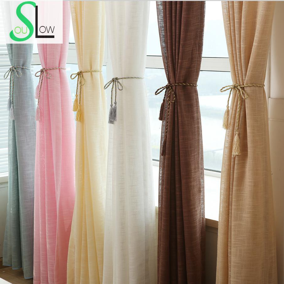 Slow soul new hotel decoration window thickened yarn for B q living room curtains