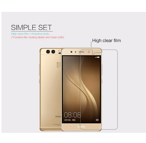 Image 2 - 2 pcs/lot screen protector for Huawei Ascend P9 NILLKIN Crystal Super clear protective film with retailed package-in Phone Screen Protectors from Cellphones & Telecommunications on