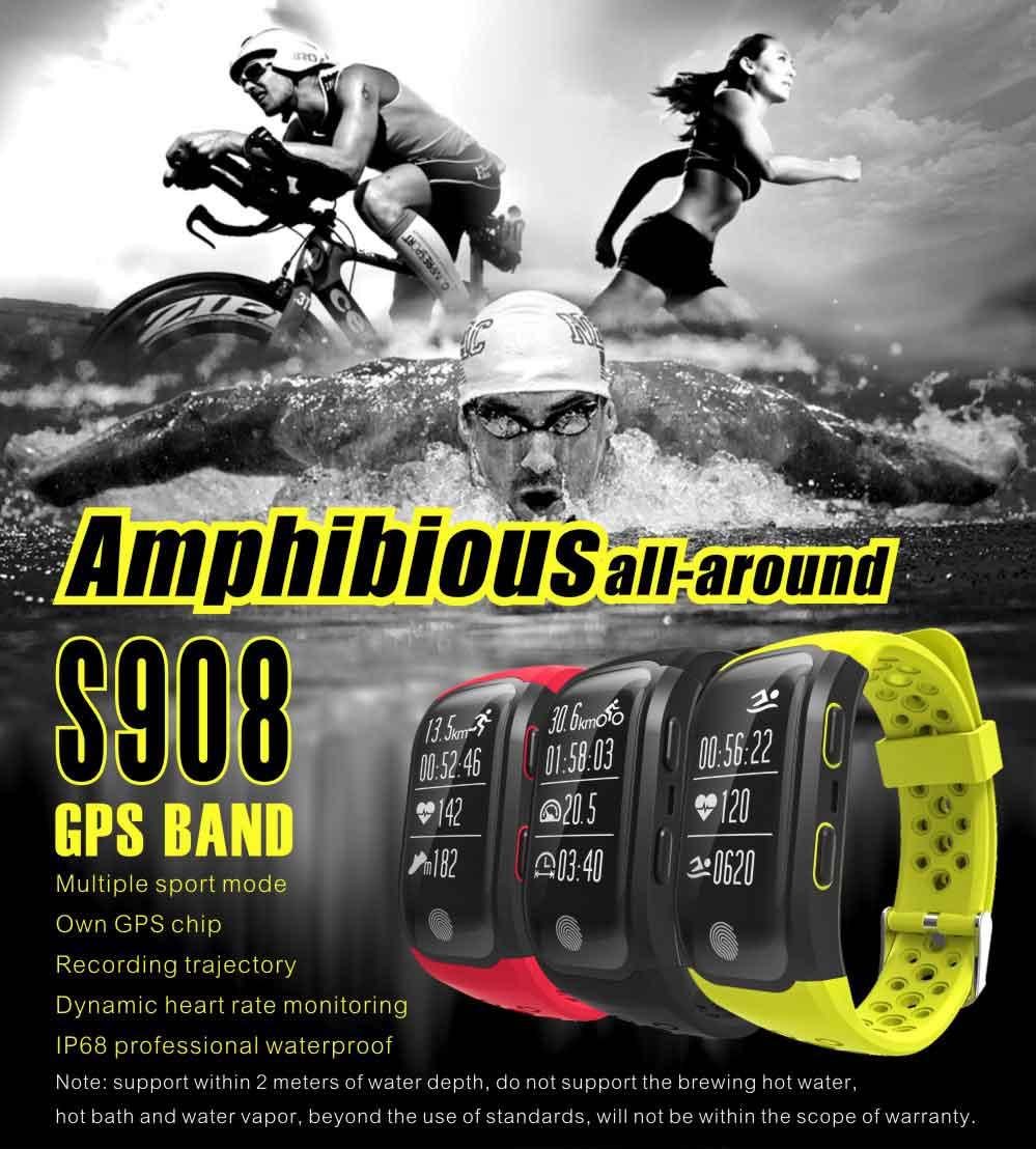 LEMDIOE Heart Rate Smart Wristband GPS Track Record Smart Band 2 Sleep Pedometer Bracelet Fitness Tracker Smart Watch Relogio 1