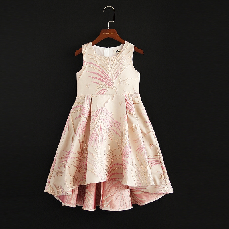Spring Summer mother daughter customized clothes mini-me party dress children 6M-16Y women 4XL baby Girl Jacquard formal Dresses summer customized made clothes children baby princess fishtail mother daughter party dress kids girl evening formal lace dresses