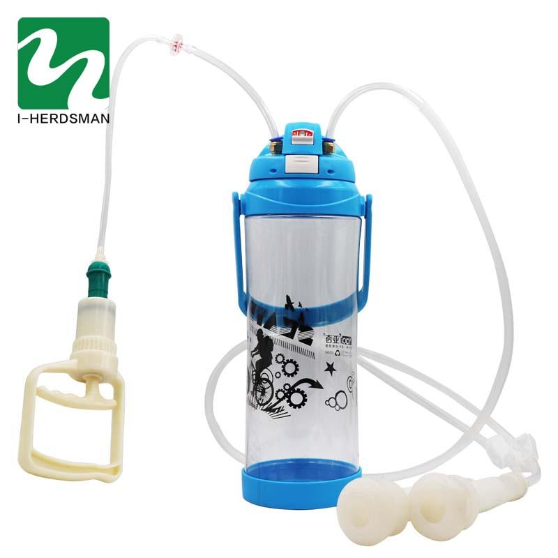 Cattle Cow Milking Machine Portable Milker Double Teats Manual Milker Automatic Vacuum Pump Penis Milking Food