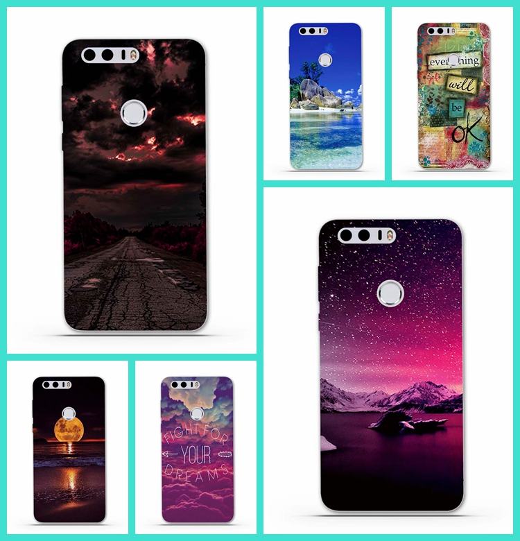 Casos de teléfono para huawei honor 8 case cubierta de lujo tpu prima cubierta p