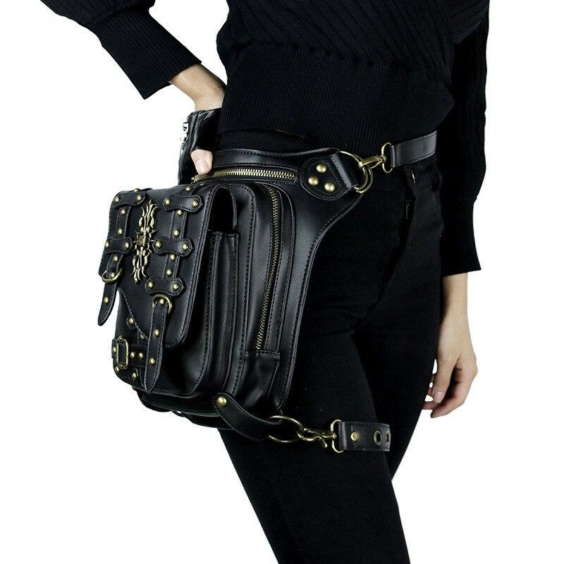 Nouveau polyvalent hommes femmes Mochila bandoulière rétro Messenger sac crochet ceinture taille Pack goutte jambe sac