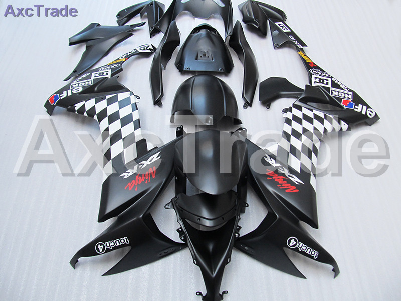 Fit For Kawasaki Ninja ZX10R ZX-10R 2008 2009 2010 08 09 10 Motorcycle Fairing Kit High Quality ABS Plastic Injection Mold Black 1set 10pcs soft silicone fishing lure bait freshwater saltwater