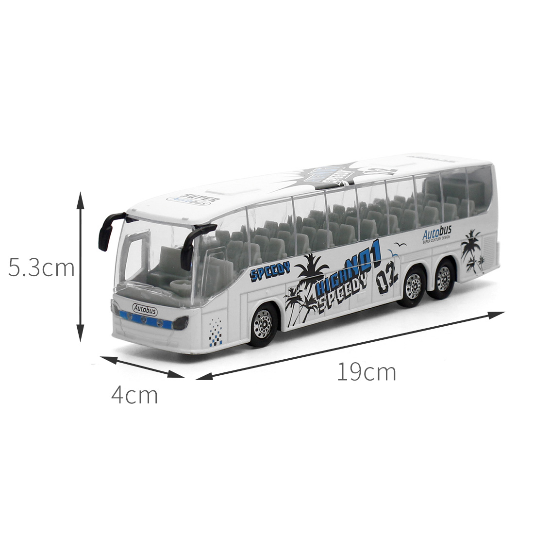 Feichao 1:50 Diecast Cars Metal Model Car Toys Alloy Bus Toy with Openable Doors/Music/Light Function for Children Boys