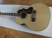 Top Quality 43 Burlywood J200 NA Solid Spurce Top Maple Sides Back Acoustic Electric Guitar Fishman