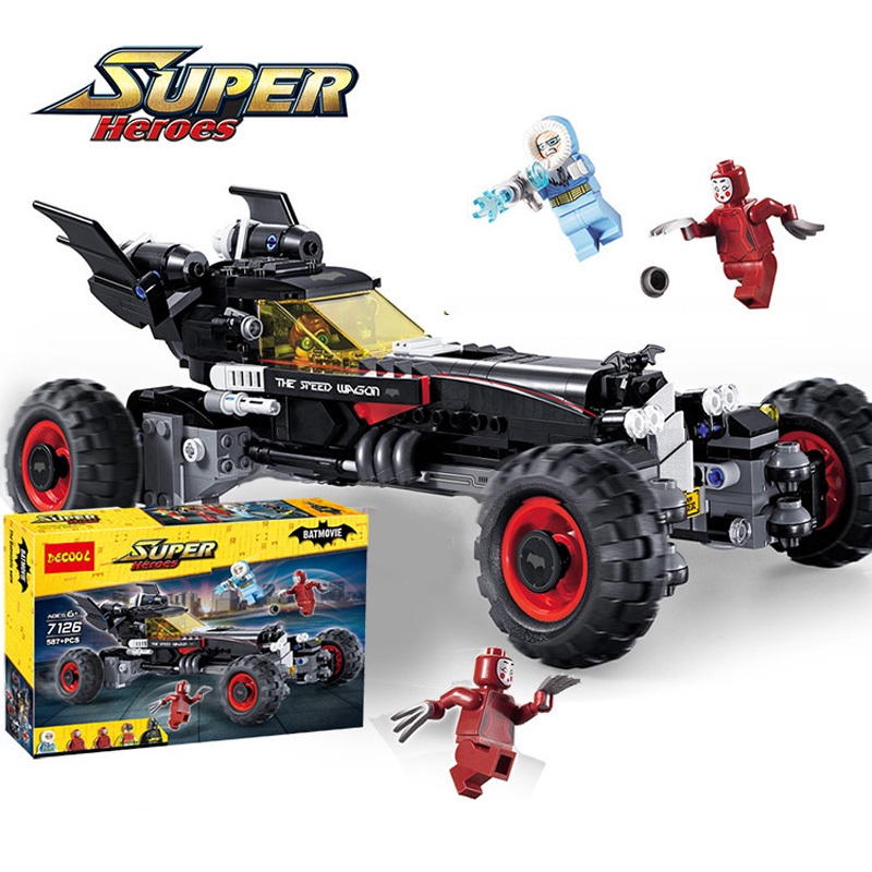 587Pcs 7126 Superhero Figures Batman The Batmobile Model Building Kits Blocks Bricks Toy For Children Gift Compatible With 70905 gonlei new 610pcs 10634 batman movie the batmobile building blocks set diy bricks toys gift for children compatible lepin 70905