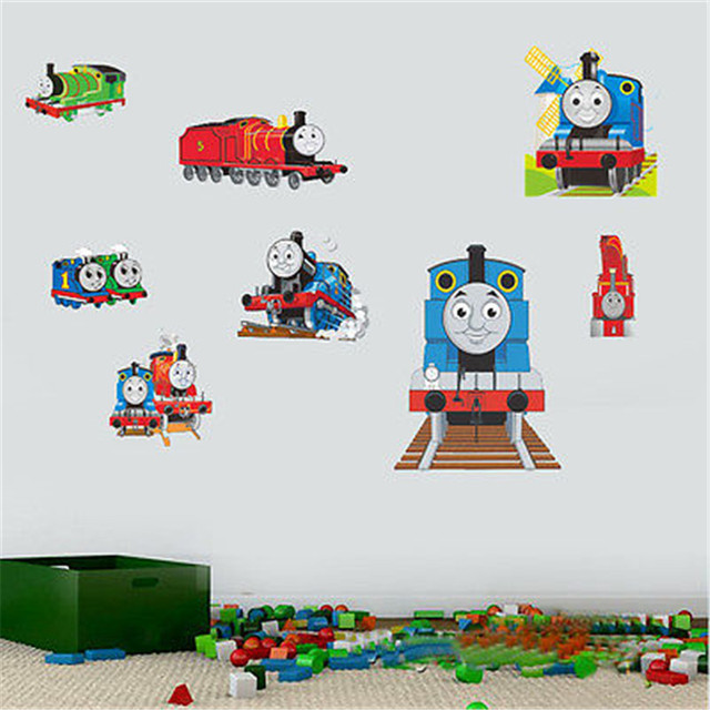 Thomas Friends Train Removable Wall Sticker Decals Decor Kids Baby Nursery  Mural