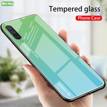 Luxury Gradient Tempered Glass Phone Cases For Xiaomi mi 9 cc SE Redmi k20 Pro Note 7 7A Case Coque MI9T Fundas