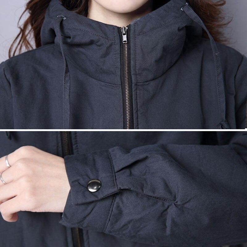 Solide red Nouveau Chaud Plume Femmes Long Mode Le gray Manches Manteau Coton Hiver Paragraphe Veste Black Ll426 Longues Épaississement À Couleur Dans 2018 0WFgqBc