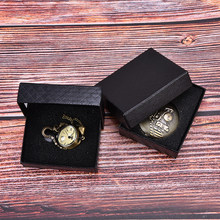 1pc Black Cardboard Cases Gifts Watch Paper Box Simple Pocket Watch Box Case(China)