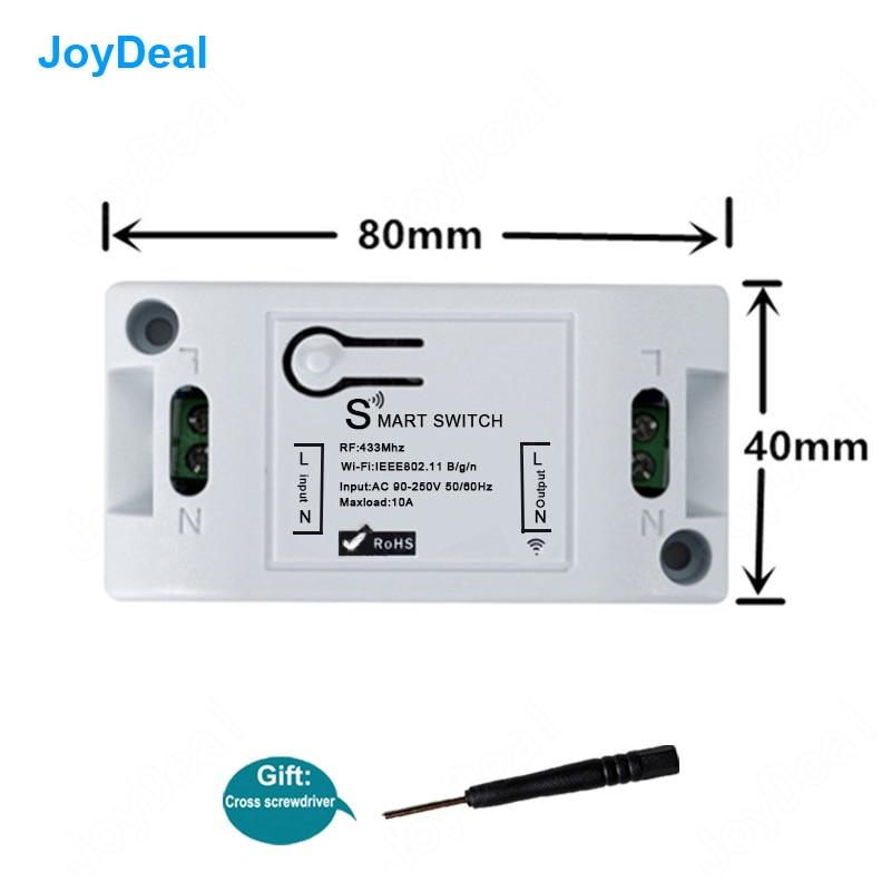 Wifi Universal interruptor de pared DIY 433 Mhz inalámbrico de Control remoto de domótica de luz inteligente casa automatización módulo de relé trabajo con Alexa.