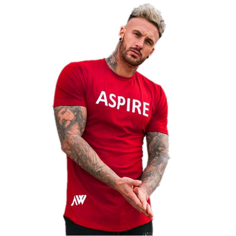 2018 new vogue summer season gyms health brief sleeve males t shirt model clothes cotton comfy male t-shirt tshirt males clothes T-Shirts, Low cost T-Shirts, 2018 new vogue summer...