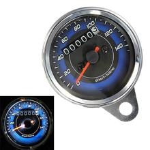 Universal Motorcycle Speedometer Meter Double Color LED Light Odometer Speed Gauge Mile Waterproof for Motrobik