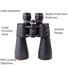 1pc Powerful 12x60DT Binoculars HD Lll Night Vision Binocular Telescope with Sun Filter for Professional Outdoor Travel Camping