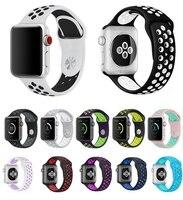 42 мм 38 мм с размер л силиконовые спортивные красочные запястье для Apple, часы ремешок для часов iwatch серии 3 и 2 и 1 браслет