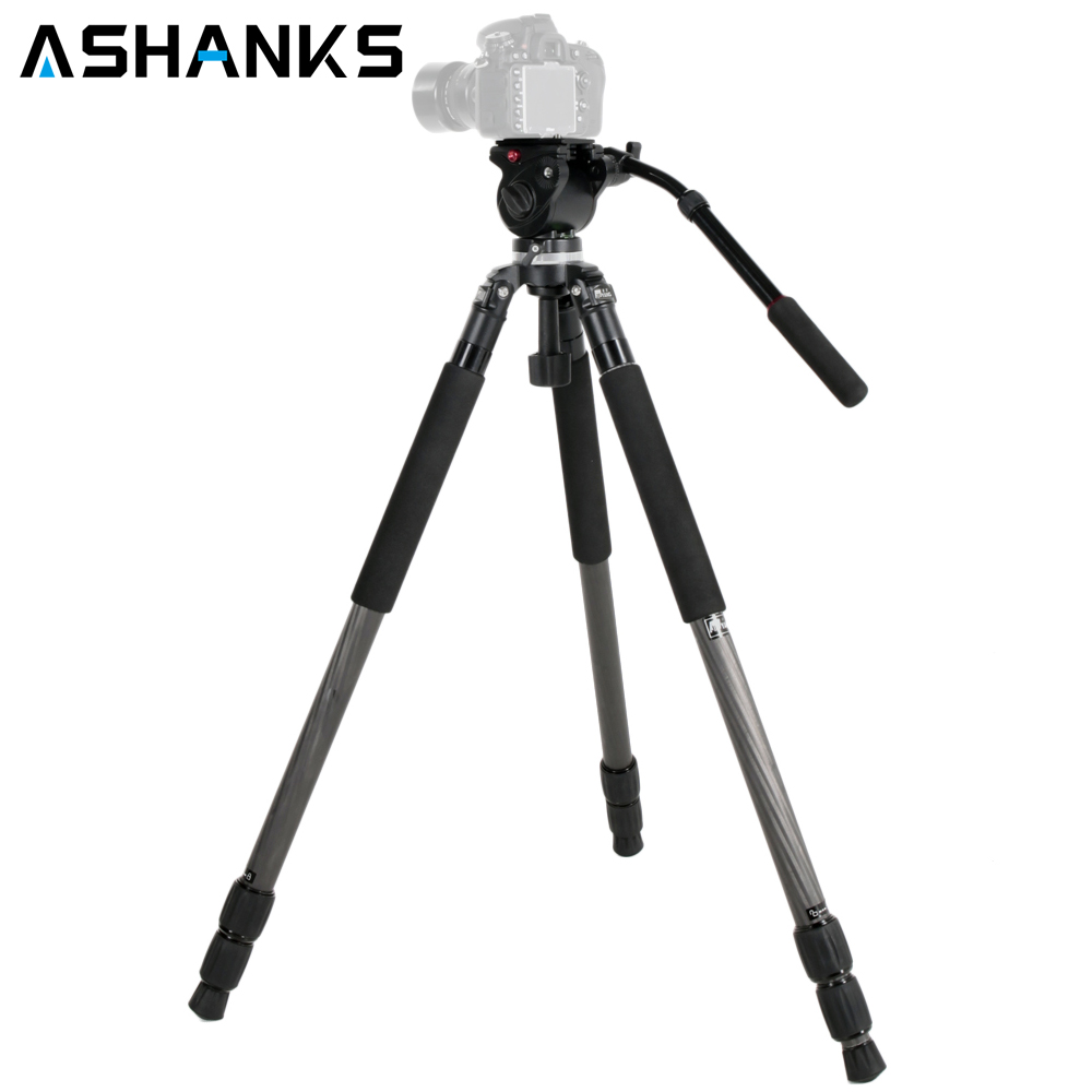 JIEYANG JY0509C Video Camera Tripod Stand with 65mm Hydraulic Bowl Head Birding Tripod for Canon Nikon Sony Photography Cameras aluminium alloy professional camera tripod flexible dslr video monopod for photography with head suitable for 65mm bowl size