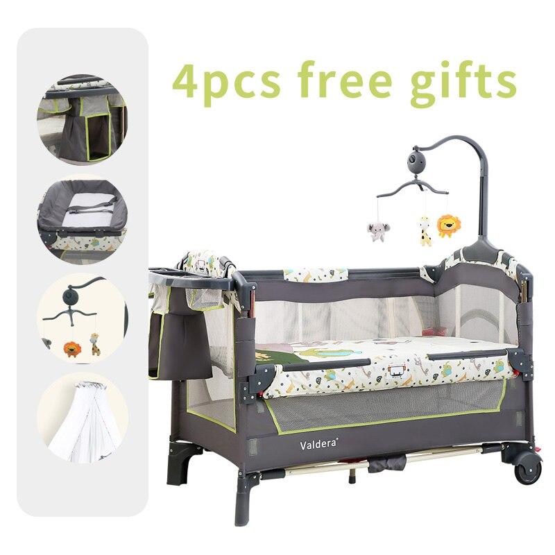 Valdera lit bébé pliant multifonctionnel mode lit de jeu portable 0-3 ans bébé lit bande moustiquaire marque berceaux