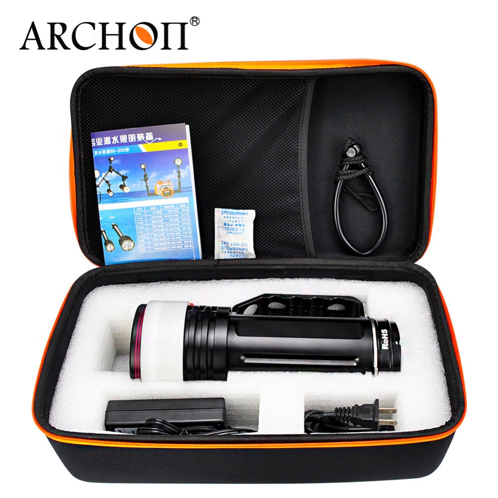 Купить с кэшбэком Diving Flashlight ARCHON DG150W WG156W 10000LM Rechargeable Dive Light Underwater Photography Torch with battery pack