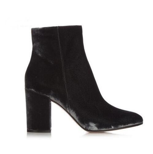 Velvet-Round-Toe-Woman-Ankle-Booties-Autumn-Winter-Chunky-Heels-Woman-Fashion-Blue-Green-Side-Zipper (4)