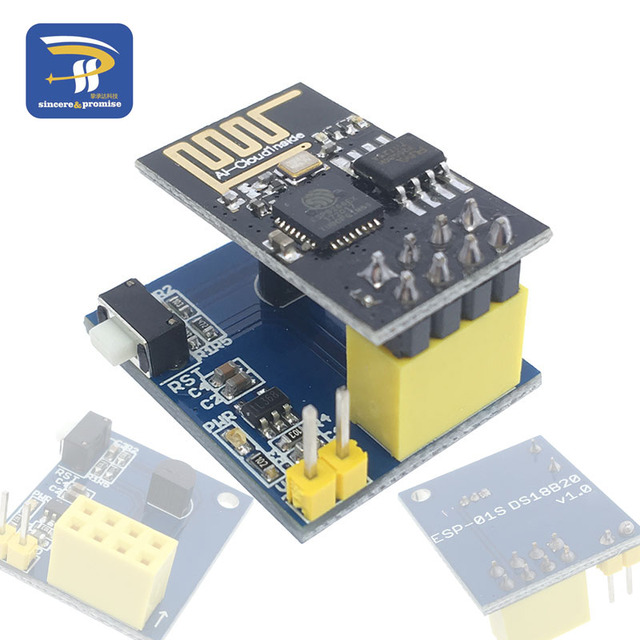 US $1 34 |ESP8266 ESP 01 ESP 01S DS18B20 Temperature Sensor Module esp8266  Wifi NodeMCU for Arduino DIY Kit-in Integrated Circuits from Electronic
