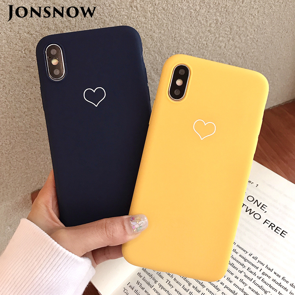 KIPX1091_1_JONSNOW Phone Case For iPhone XS XR XS Max  6S 7 8 Plus Couples Style Love Heart Pattern Soft Silicone Case Capa Fundas