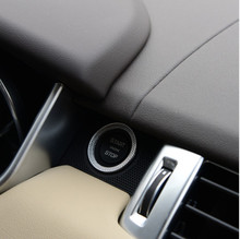 Car Engine Start Ring Trim For Land Rover Discovery Sport Range Rover Sport Evoque Vogue ABS Chrome Accessories Car Styling 2017 3pcs rear air condition knob trim for range rover sport for range rover vogue 2014 2017 accessories car styling